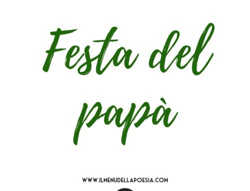 FESTA DEL PAPA': ditelo con la poesia!