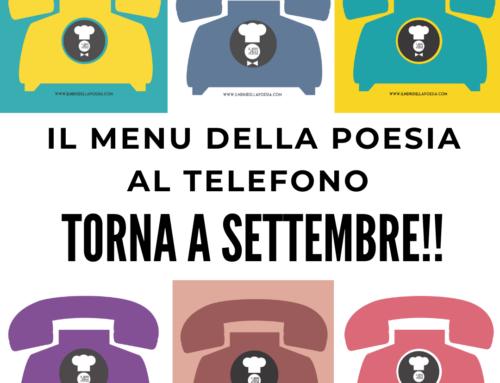 IL MENU AL TELEFONO torna a SETTEMBRE!
